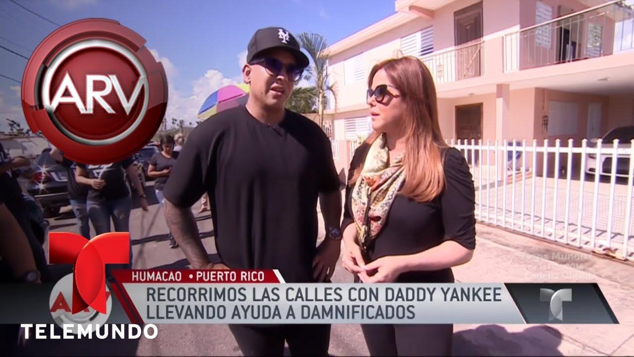 Daddy Yankee recorrió barrios de su isla llevando ayuda   Al Rojo Vivo   Telemundo