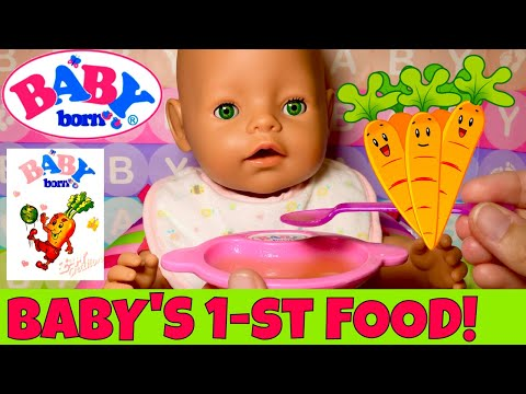 🍼Baby Born Doll Feeding! 🥕Gemma's After Nap Routine & Trying Baby Food For The First Time!🤗