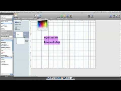 iBook Author Tutorial- Inserting and Modifying Text
