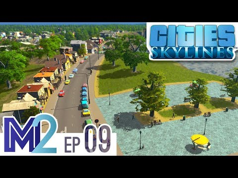 Cities: Skylines Let's Play Ep 9 - Waterfront Homes (Vanilla No Mods)
