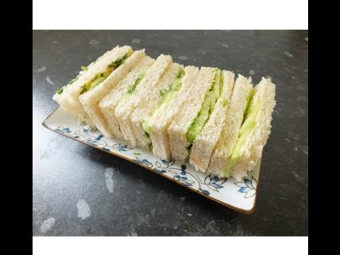 English Afternoon Tea Sandwiches Cucumber & Dill finger Sandwich Recipe