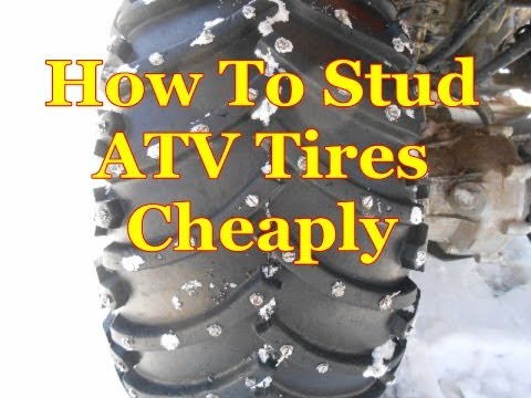 How To Stud Atv Tires Cheaply