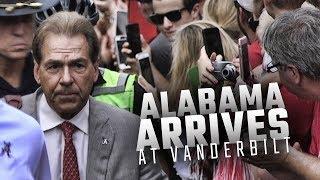 Watch Alabama arrive at Vanderbilt Stadium for their SEC opener vs the Commodores
