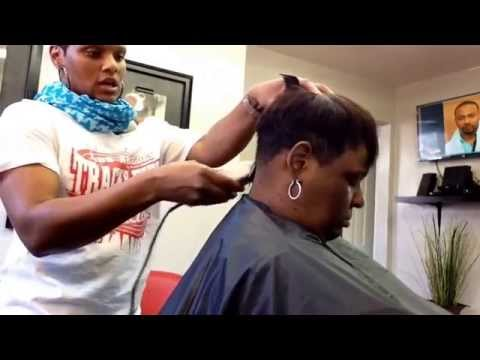 How to cut short hair in a pixie style using Andis Master clippers shears and comb