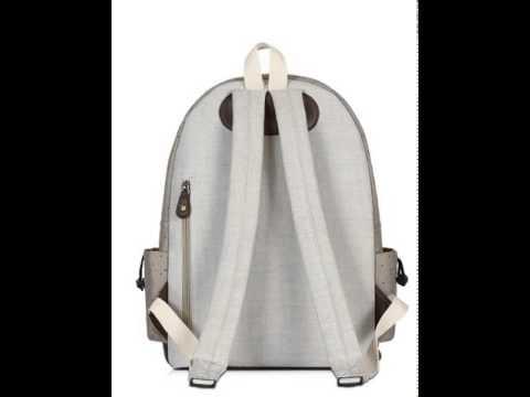 Clean canvas bag school shoulder bags.avi