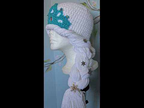 How to Crochet - winter princess hat / Inspired by Frozen  ( video one)-