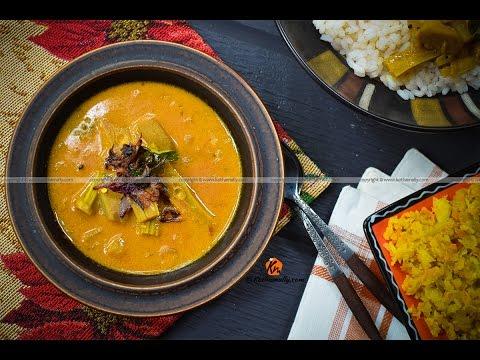 Muringakka Manga curry - Drumsticks and Raw Mango in Coconut milk - Kothamally