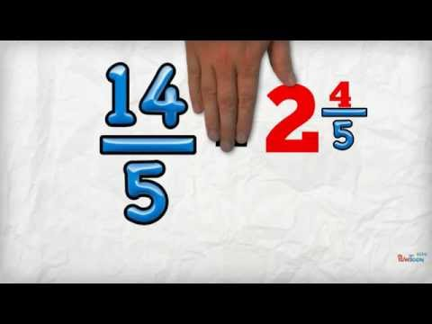 Change an Improper Fraction into a Mixed Number