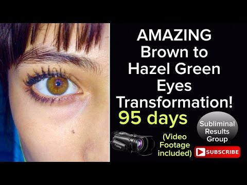 SHE CHANGED HER EYE COLOR TO HAZEL GREEN IN 95 DAYS USING QUADIBLE INTEGRITY & AKUO AFFIRMATIONS!
