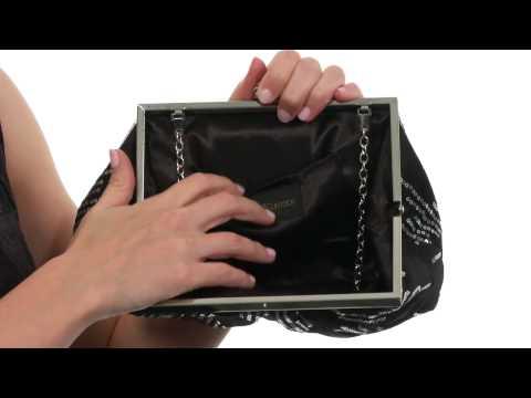 Jessica McClintock Scattered Sequin Frame Clutch SKU:8514191