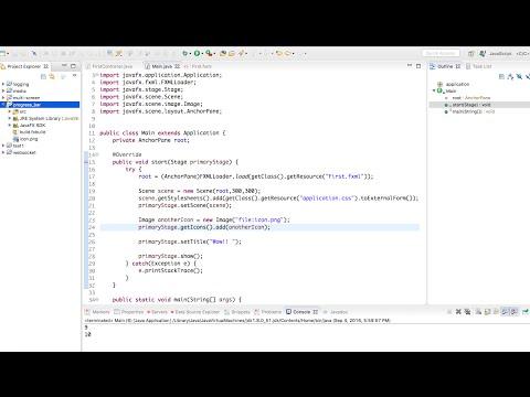 JavaFX app icon in 2 min