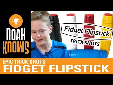 The Fidget Flipstick is Awesome! Trick shots with an Addictive Desktop Skill Toy