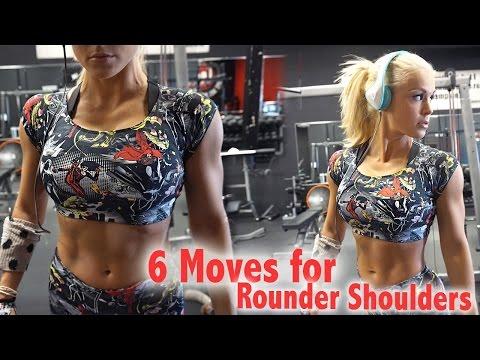 6 Exercises for Bigger Shoulders | Smaller Waist