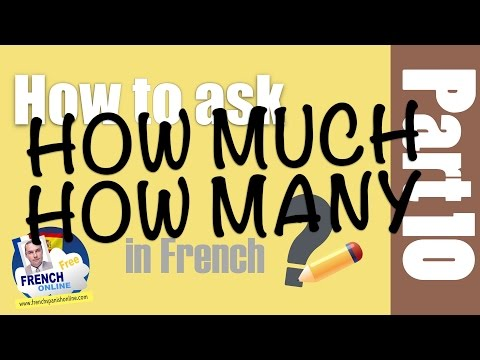 how much in French - how many in French