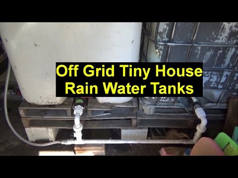 New Rain Water Collection Tank & Pallet Wood Home Heat