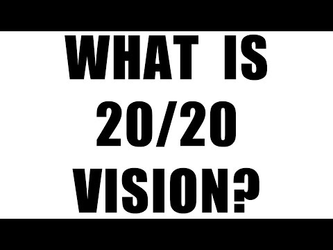 What does 20/20 vision mean?