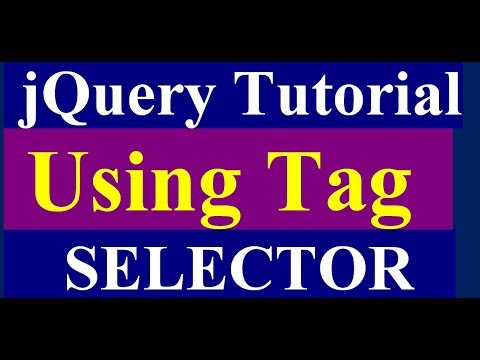 how to use element or tag  selector in jquery - jquery tutorial