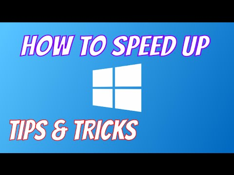 How to Speed Up Your Computer Windows 7,8,10