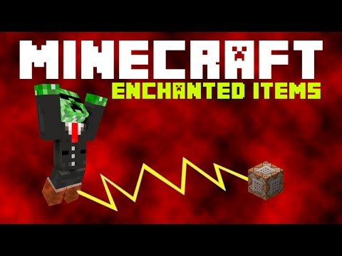 Minecraft Redstoning - How to give a player enchanted items using command blocks. (/give)