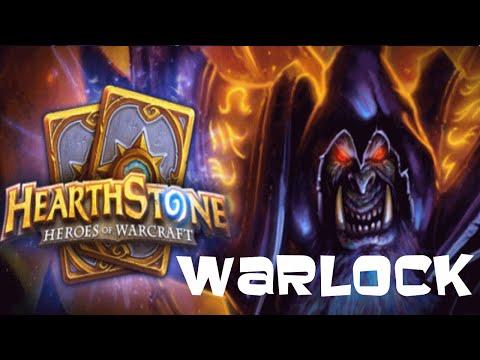 hearthstone warlock deck and ranked match