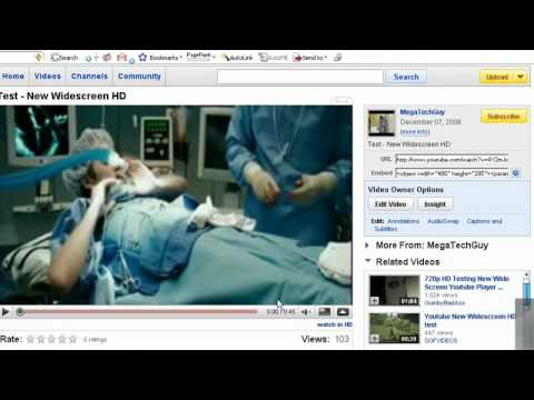 How to make widescreen HD videos on youtube