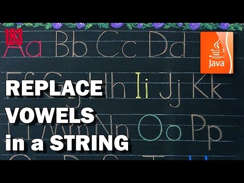 JAVA Replace vowels in a string