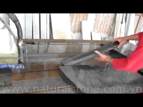 Cutting Natural Stone Slab