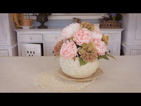 Simple Peony Table Flowers Arrangement