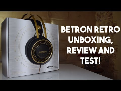 Betron Retro Headphones, Unboxing and Review!