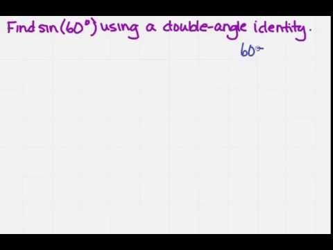 find an exact value using a double angle identity
