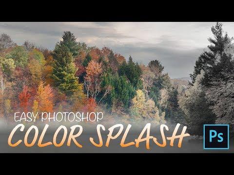 Photoshop Color Splash Effect - Fast, No Selections