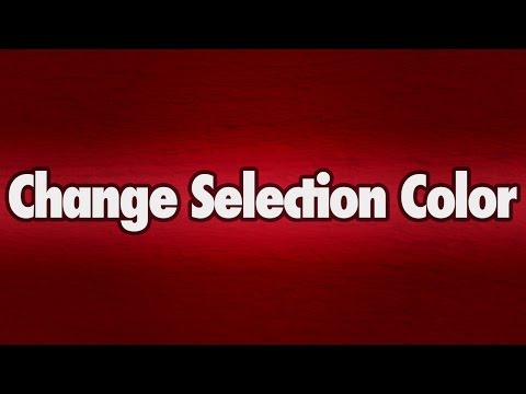 Change Selection Color with CSS