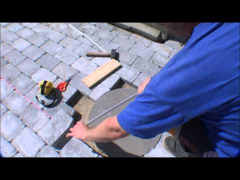 Cutting a perfect curve in concrete pavement - 073