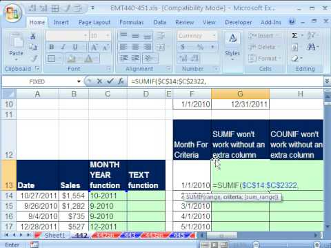 Excel Magic Trick 442: Summarize Monthly Sales With Daily Transactional Dates - 5 Methods