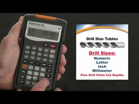 Machinist Calc Pro Drill Size Chart How To Use