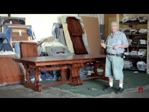 Expanding Banquet Dining Table fit for a Castle 20 feet with leaves inserted!