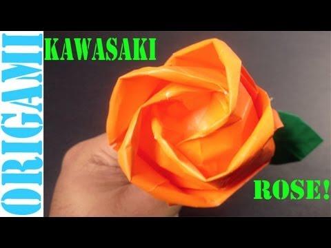 Beautiful Kawasaki Rose (Valentine's Day): Daily Origami - 464 [TCGames HD]