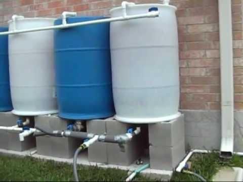 Rain Barrel Solar Pump Set UP