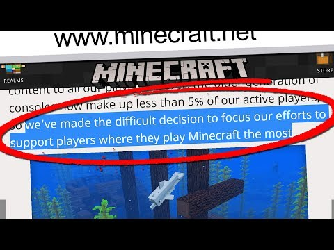 THEY'RE AXING THIS VERSION OF MINECRAFt... (Minecraft News Update)