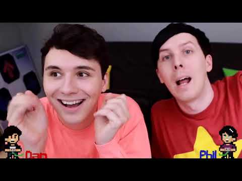 some dan and phil being cute on the gaming channel