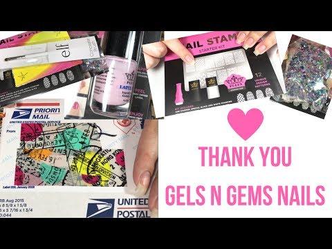 📦 I won a giveaway!? Thank you Gels N Gems Nails!! 📦