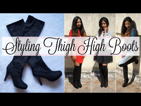 HOW TO: Style Thigh High Boots for Short Girls | 5 Simple Looks | Stacey Castanha