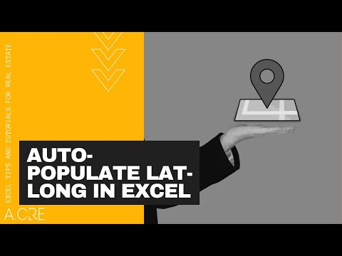 Auto Populate Latitude and Longitude Function in Excel (NEW VERSION)