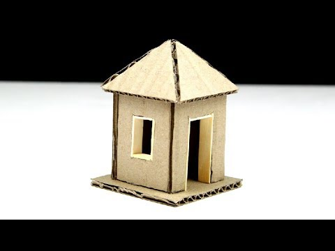 A Small Cardboard House for Kids(very simple)How to Make
