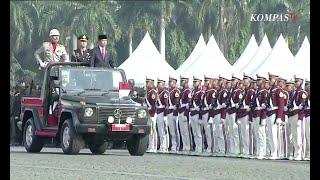 Detik-Detik Presiden Jokowi Lakukan Pemeriksaan Pasukan di Hari Bhayangkara