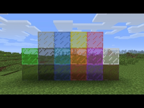 How To Get Stained Glass In Mcpe 1.1.1 (NO MODS, NO ADDONS, NO TEXTURE PACKS!)