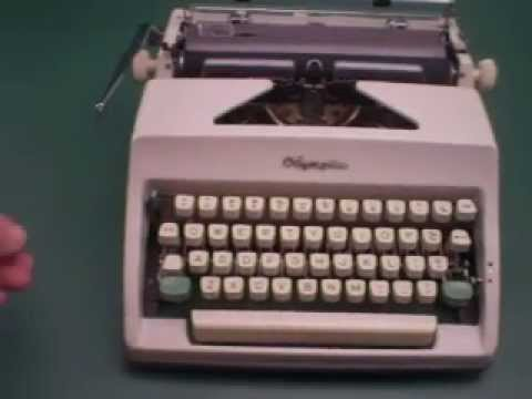 Olympia SM8 Portable Manual Typewriter Clean-Fully Tested-Used