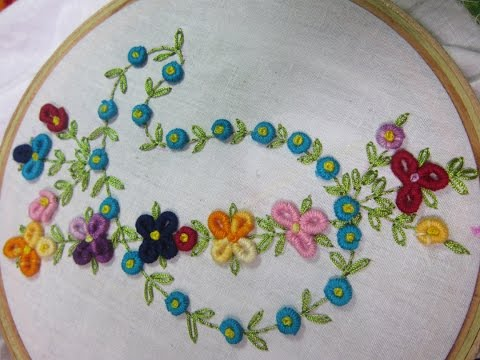 Hand Embroidery Designs | Design for dresses | Stitch and Flower-74
