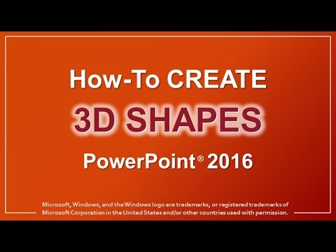 How to Create 3D Shapes in PowerPoint 2016