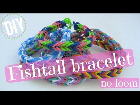 DIY Fishtail Band Bracelets (no loom) / Λάστιχο - Βραχιολάκια με τα Δάχτυλα